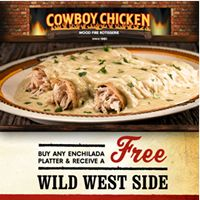 Famous enchiladas turn 30 on the cowboy chicken menu