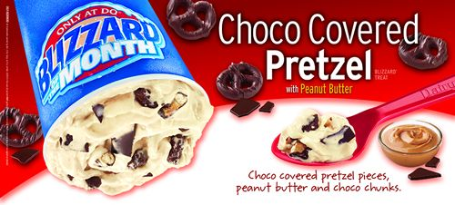 Dairy Queen Restaurants Choco Covered Pretzel Blizzard