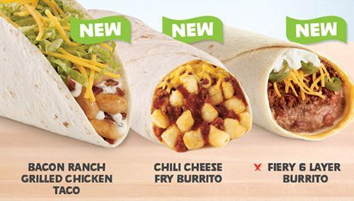 Del Taco New Tastes menu