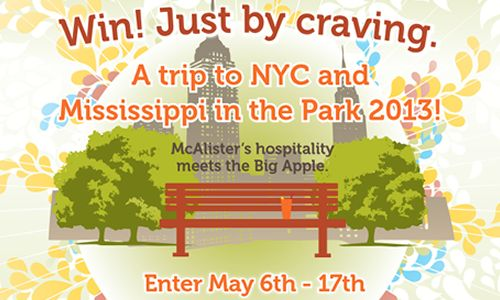 """McAlister's Launches Sweepstakes For Trip To """"The Big Apple"""""""