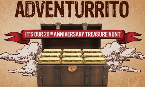 "Chipotle Celebrates 20th Anniversary with ""Adventurrito"" Treasure Hunt"