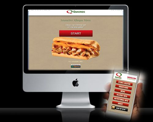 Quiznos adds Interactive Allergy Menus to its website