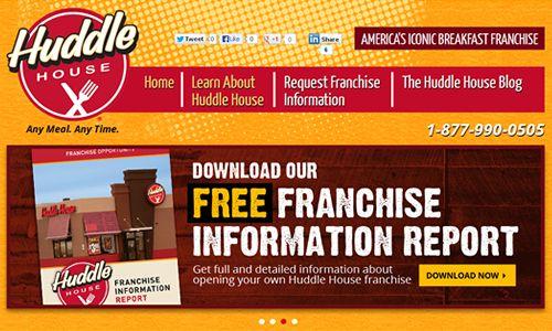 Huddle House Breakfast Franchise Launches New Franchising Website