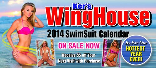 Ker's WingHouse Bar & Grill Unveils 19th Annual WingHouse Girls Swimsuit Calendar