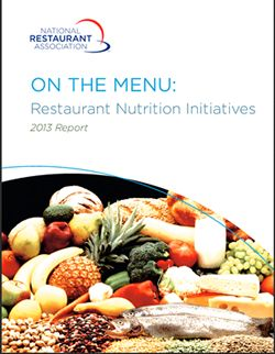 National Restaurant Association Releases Industry Nutrition Report