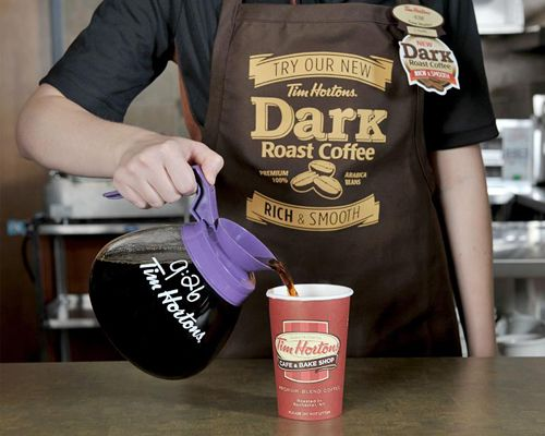 Tim Hortons pilots new dark roast coffee