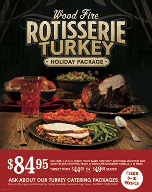 Cowboy Chicken Offers Wood Fire Rotisserie Turkeys For the Holidays
