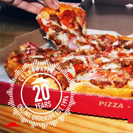 Pizza Hut Celebrates 20th Anniversary Of World S First Online Purchase With 50 Percent Off Online Deal For Hut Lovers Members Restaurantnews Com