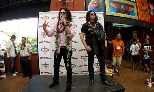 Rock Icons Gene Simmons and Paul Stanley Say Aloha to Hawaii