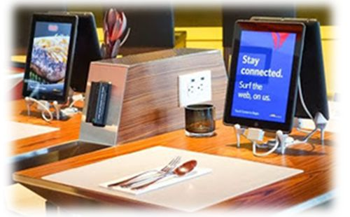 TableTop Tablets A Boon For Restaurants And Diners With Food - Restaurant table ordering system