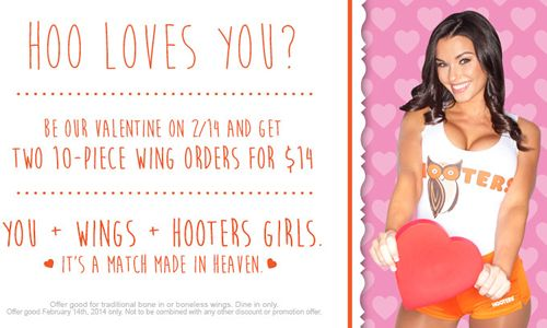 Hooters Spreads the Love with Wing Deal this Valentine's Day
