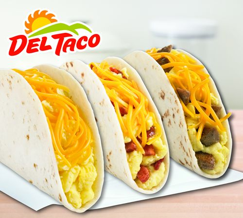 New Breakfast Tacos & Free Hashbrowns at Del Taco