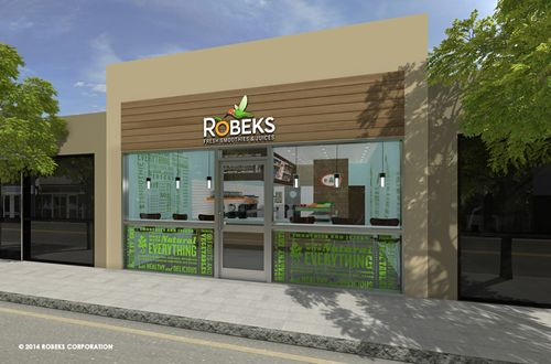 New Robeks Smoothie Franchise Store Design Increases Accessibility and Profits