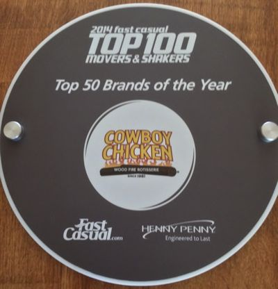 Cowboy Chicken Ranks #21 on Fast Casual's Top 100 Movers & Shakers of 2014