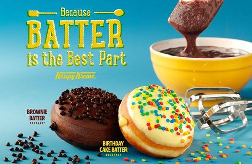 Krispy Kreme Batter Doughnuts: Because Batter is the Best Part!