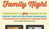 Ryan's, HomeTown Buffet and Old Country Buffet Turn Up Fun on Family Night With July Music Promotion