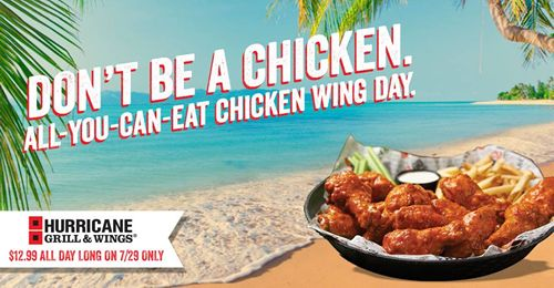 Hurricane Grill & Wings Celebrates National Chicken Wing Day With All-You-Can-Eat Wings