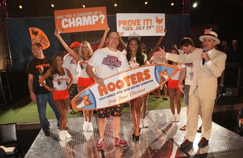 Joey Chestnut Breaks Hooters World Wing Eating Championship Record, Prepares for National Chicken Wing Day