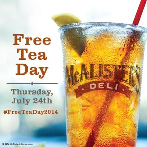 McAlister's Deli Set To Give Away More Than 350,000 Glasses of Tea During 6th Annual 'Free Tea Day' On July 24