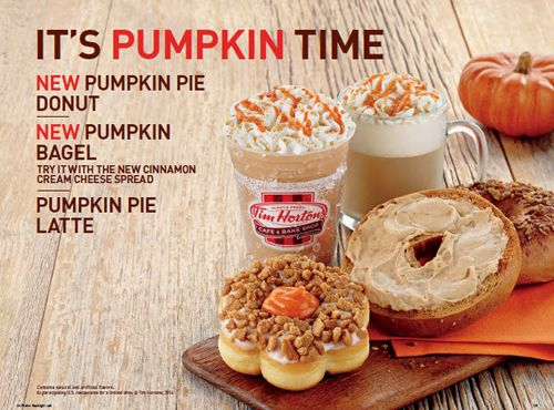 Tim Hortons Cafe & Bake Shop Celebrates Fall with the Return of Pumpkin Pie Goodnes