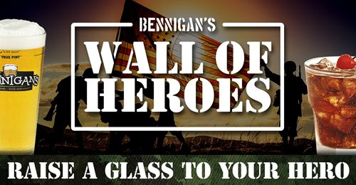 "Bennigan's at Tysons Corner to Host ""Happy Hour with a Hero"""