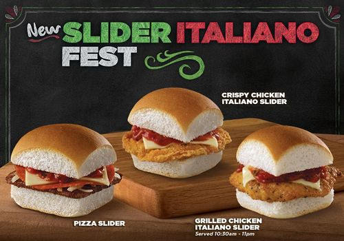 Introducing Three New Tasty Sliders For Slider Italiano Fest At White Castle