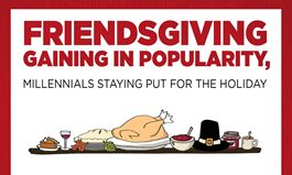 "TGI Fridays Survey Reveals Millennials Are Key Piece of the ""Friendsgiving"" Holiday Pie"