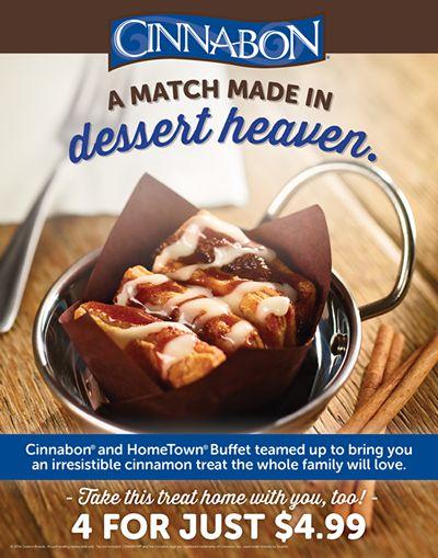 HomeTown Buffet and Cinnabon Are a Match Made in Dessert Heaven