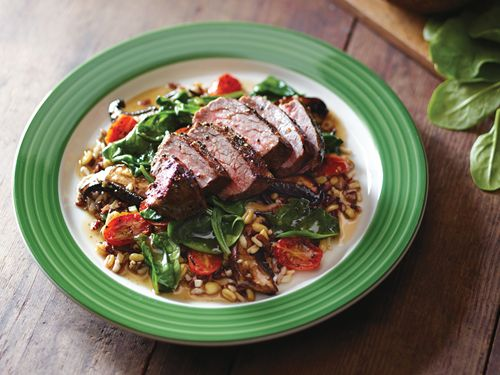 Pepper-Crusted Sirloin & Whole Grains