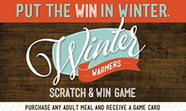 Ryan's, HomeTown Buffet and Old Country Buffet Start the New Year with a Season of Winning: Everyone Wins with the 'Winter Warmers' Scratch & Win Game