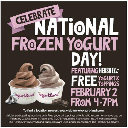 Yogurtland To Celebrate National Frozen Yogurt Day On February 2, 2015