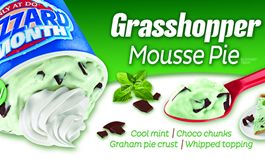 dairy queen debuts grasshopper mousse pie as the featured blizzard of