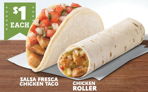 ... Items With Addition of Salsa Fresca Chicken Taco and Chicken Roller