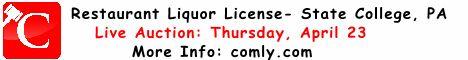 Restaurant Liquor License Auction State College, PA