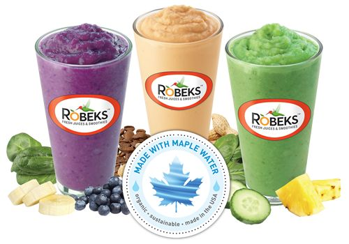Robeks Introduces 3 'Fitness Smoothies' Made with Maple Water