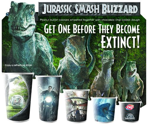 The Dairy Queen System Announces Jurassic Smash Blizzard and Promotional Partnership for Jurassic World