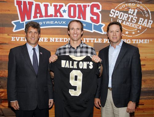 Drew Brees Joins the Walk-On's Team