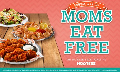 hooters free wings mothers day