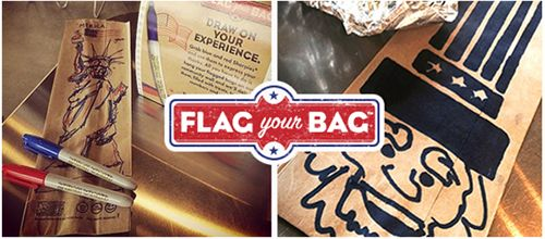 Which Wich Superior Sandwiches Salutes the Troops with Flag Your Bag Campaign