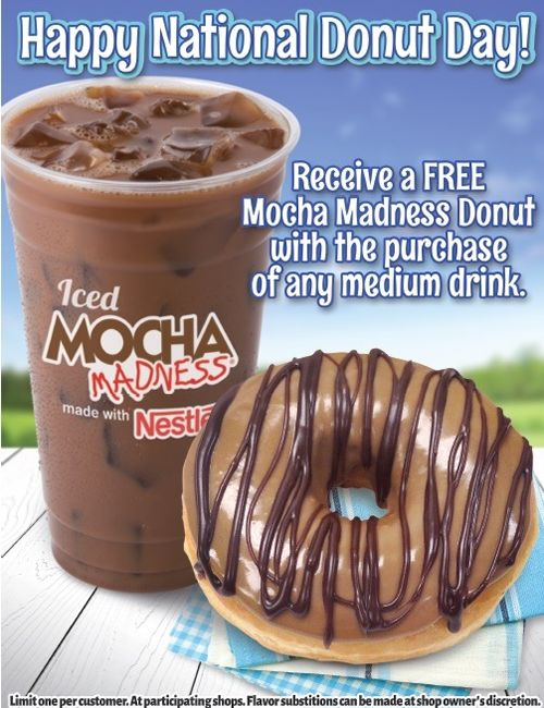 Honey Dew to Offer Free Mocha Madness Donut on National Donut Day!