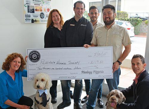 Pieology Donates More than $2,000 to Peninsula Humane Society & SPCA