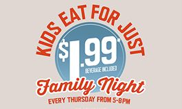 Ryan's, HomeTown Buffet and Old Country Buffet Go Wild For Family Night