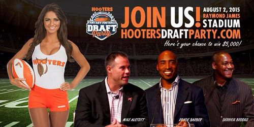 Hooters Selects Tampa to Host Record-Setting Fantasy Football Draft Party