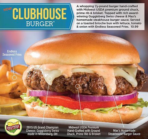 Max & Erma's Serves Up Support for Local Boys & Girls Clubs with New Award-Winning Clubhouse Burger