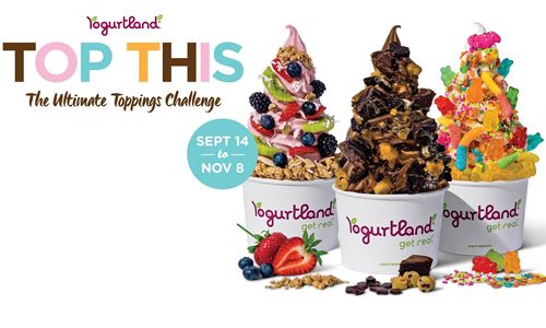 """One Year of Free Yogurtland for Winners of the Ultimate """"Top This"""" Challenge"""