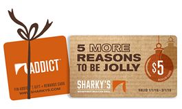 Sharky's Woodfired Mexican Grill Offers $5 Bonus Card with Every $25 Holiday Gift Card Purchase