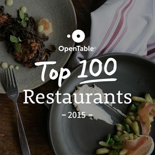 100 Best Restaurants in America for 2015