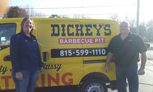 Dickey's Barbecue Pit Rings in the New Year in Rockford