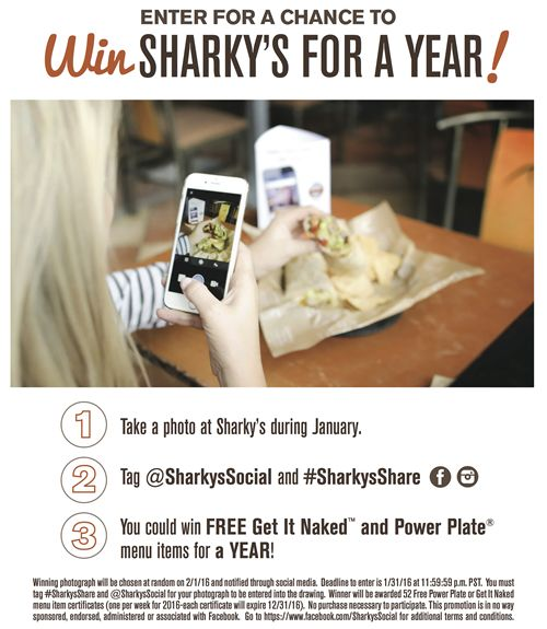 """Start the New Year """"Naked"""" With Sharky's Woodfired Mexican Grill"""