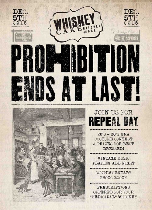 Whiskey Cake Hosts Repeal Day Celebration